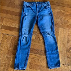 7 for all mankind Gwenevere Ankle Straight Jeans